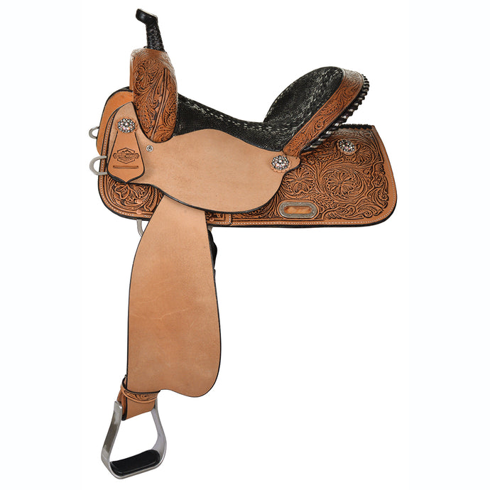 Side Picture of High Horse Jewel Barrel Saddle 6224