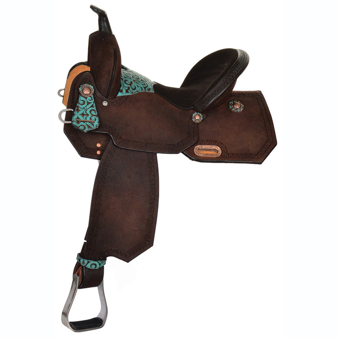Side Picture of High Horse Madison Barrel Saddle 6229
