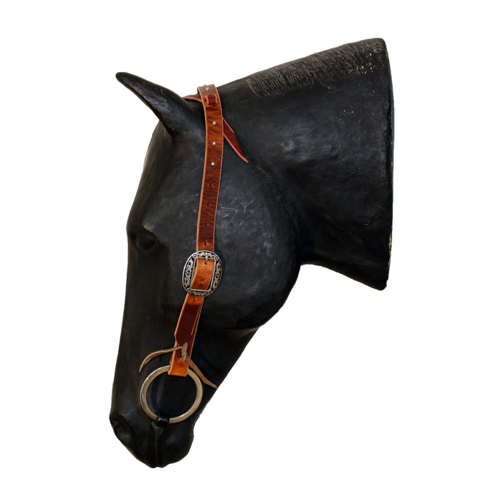 Picture of C&L Spotted Feedlot One Ear Headstall Oval Buckle HS000003