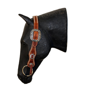 Picture of C&L Spotted Buster Belt Style Headstall Oval Buckle HS000007