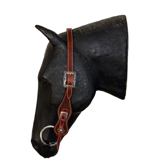 Picture of C&L Rounder Pole Style Headstall Square Buckle HS000008