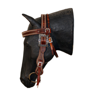 Picture of C&L Spotted Competition Browband Belt Style Headstall Square Buckle HS000013