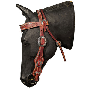 Picture of C&L Puncher 2 Browband Headstall Oval Buckle HS000028