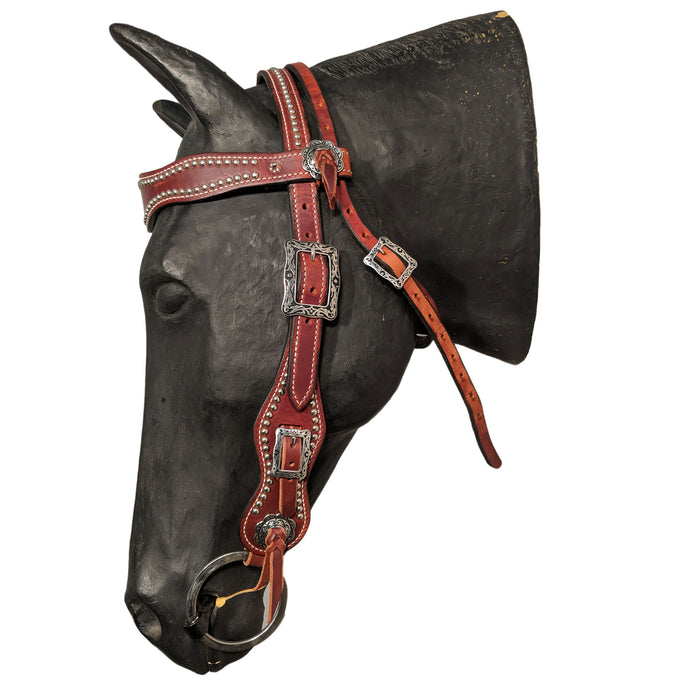 Picture of C&L Puncher 2 Browband Headstall Square Buckle HS000029