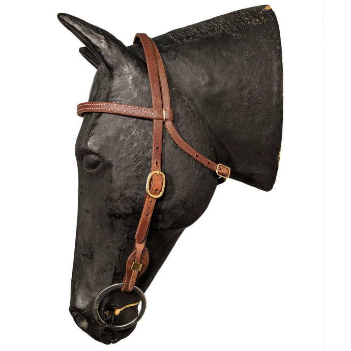 Picture of C&L Classic Brass Quick Change Browband Headstall HS000032