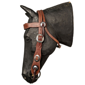 Picture of C&L Buckaroo Headstall Stainless Oval Buckle HS000035