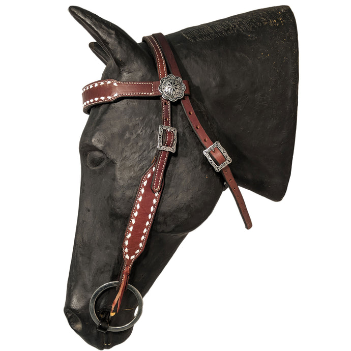 Picture of C&L DW Throwback Headstall with Square Jeremiah Watt Buckles HS000038
