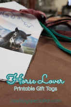 Load image into Gallery viewer, Horse Lover Gift Tags