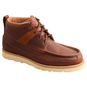 "Picture of front inside of Men's Twisted X Lace Up Safety Toe 4"" Work Wedge Sole Boot MCAA001"