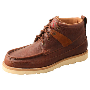 "Picture of front outside of Men's Twisted X Lace Up Safety Toe 4"" Work Wedge Sole Boot MCAA001"