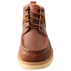 "Picture of outside of Men's Twisted X Lace Up Safety Toe 4"" Work Wedge Sole Boot MCAA001"