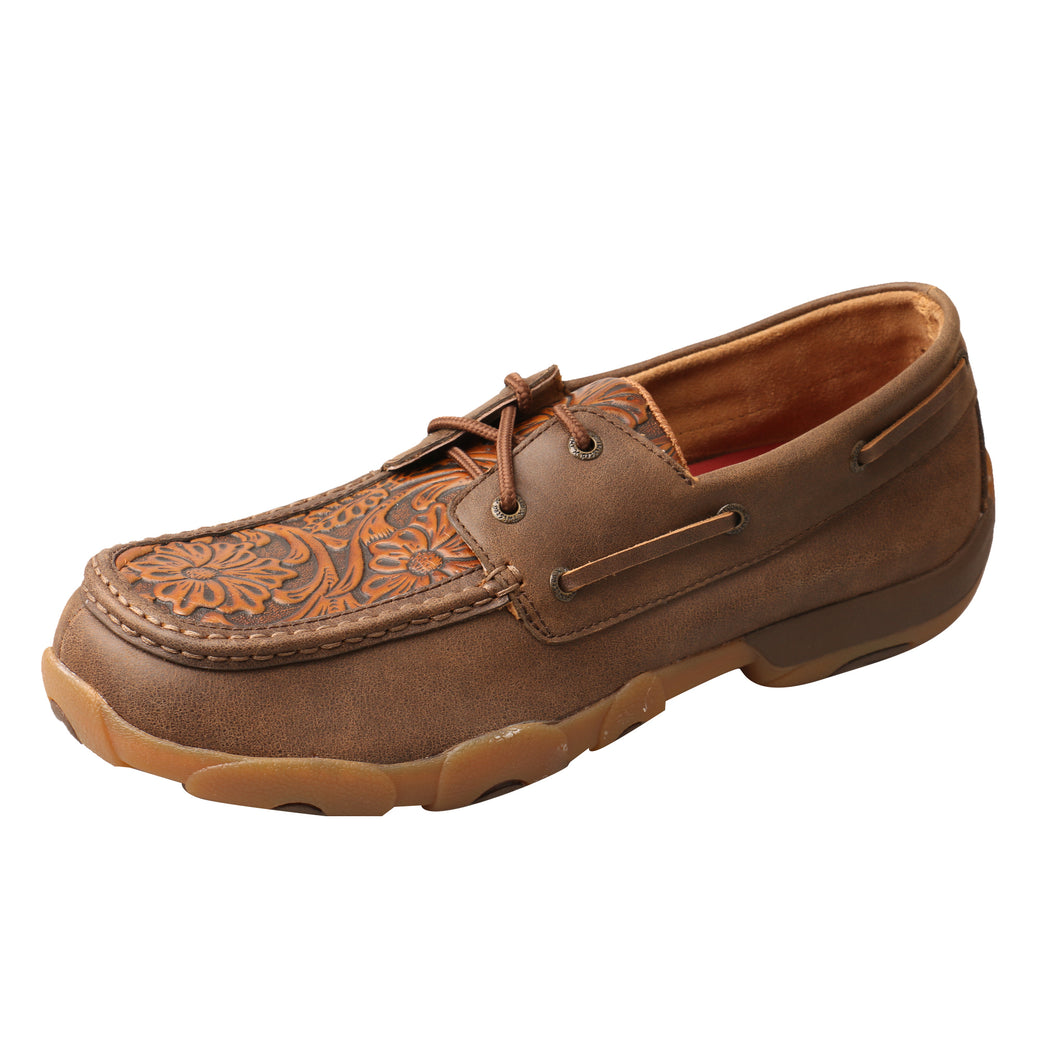 Picture of front outside of Men's Twisted X Boat Shoe Driving Moc MDM0066