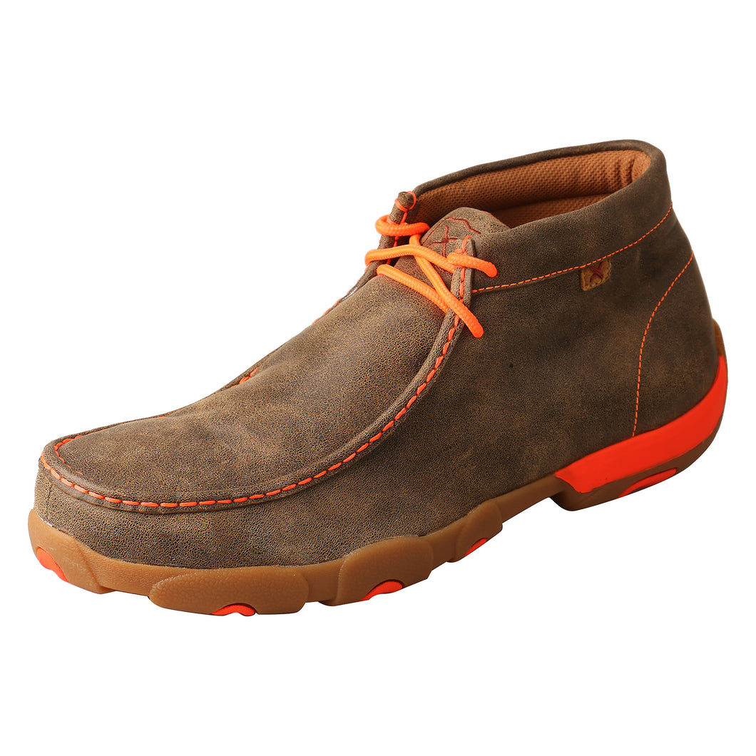 Picture of front outside of Men's Twisted X Work Steel Toe Chukka Driving Moc MDMST04