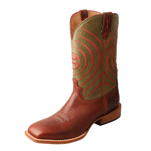 Picture of front outside of Men's Twisted X Hooey Boot MHY0028