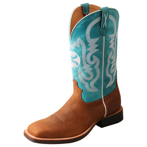 "Picture of front outside of Men's Twisted X 12"" Hooey Boot MHY0032"