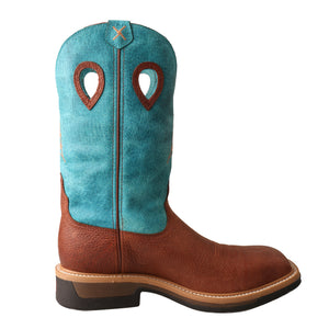 Picture of heel of Men's Twisted X Alloy Toe Lite Western Work Boot MLCA004
