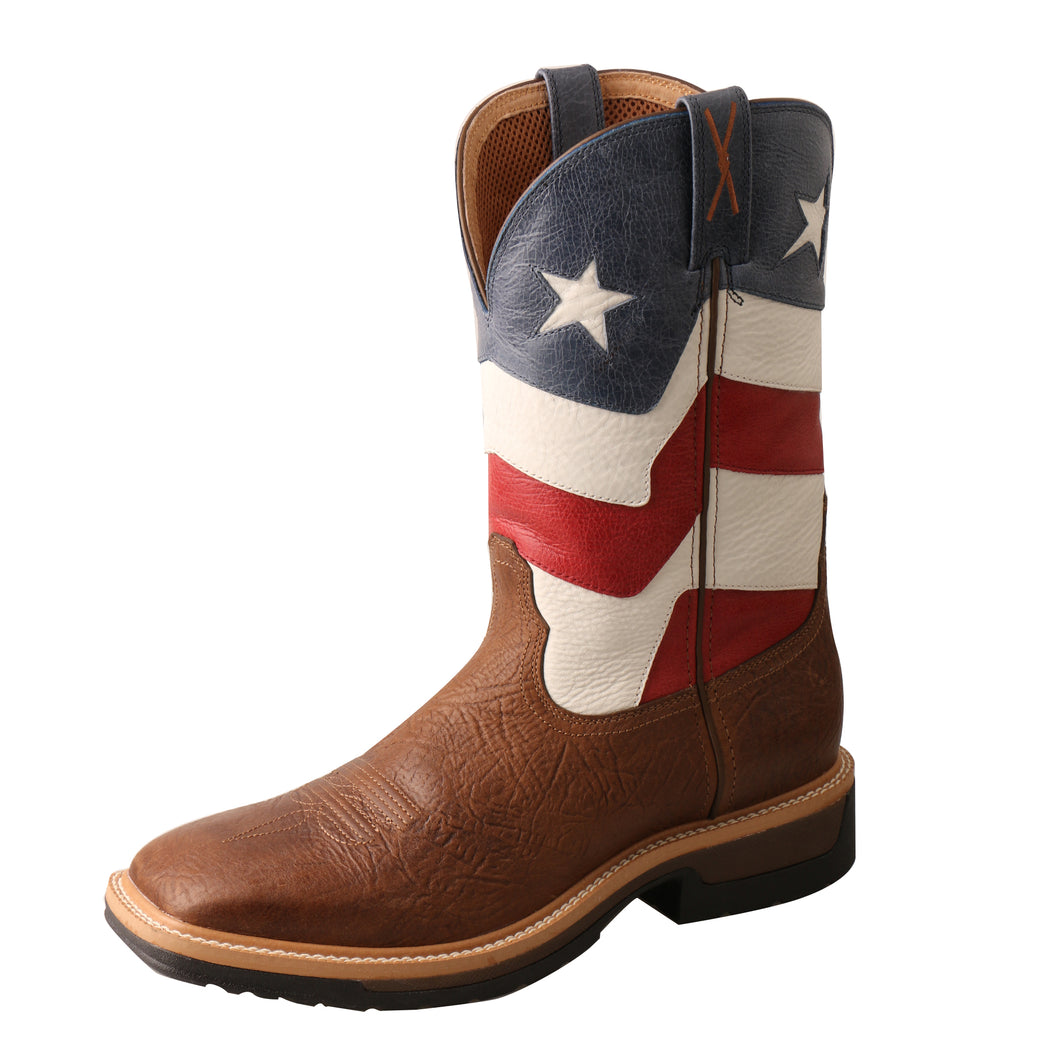 Picture of front outside of Men's Twisted X VFW Alloy Toe Lite Western Work Boot MLCA007