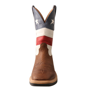 Picture of outside of Men's Twisted X VFW Alloy Toe Lite Western Work Boot MLCA007