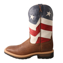 Load image into Gallery viewer, Picture of front of Men's Twisted X VFW Alloy Toe Lite Western Work Boot MLCA007