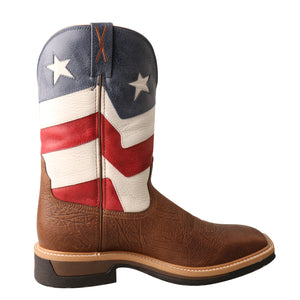 Picture of heel of Men's Twisted X VFW Alloy Toe Lite Western Work Boot MLCA007