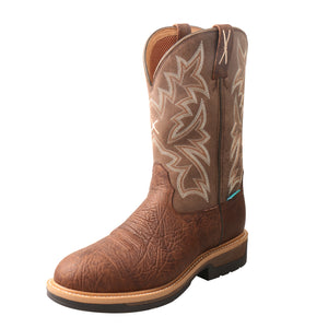 Picture of front outside of Men's Twisted X Comp Toe Lite Western Work Boot - WP MLCCW03
