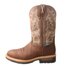 Load image into Gallery viewer, Picture of front of Men's Twisted X Comp Toe Lite Western Work Boot - WP MLCCW03
