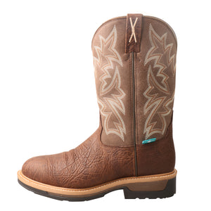 Picture of front of Men's Twisted X Comp Toe Lite Western Work Boot - WP MLCCW03