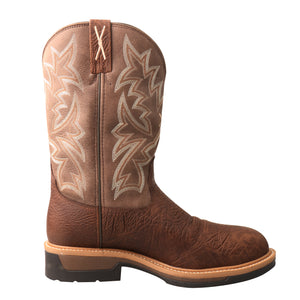 Picture of heel of Men's Twisted X Comp Toe Lite Western Work Boot - WP MLCCW03