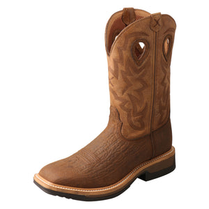 "Picture of front outside of Men's Twisted X Pull On Safety Toe 12"" Western Work Boot MLCCW05"