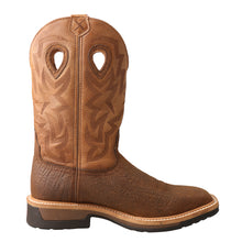 "Load image into Gallery viewer, Picture of heel of Men's Twisted X Pull On Safety Toe 12"" Western Work Boot MLCCW05"