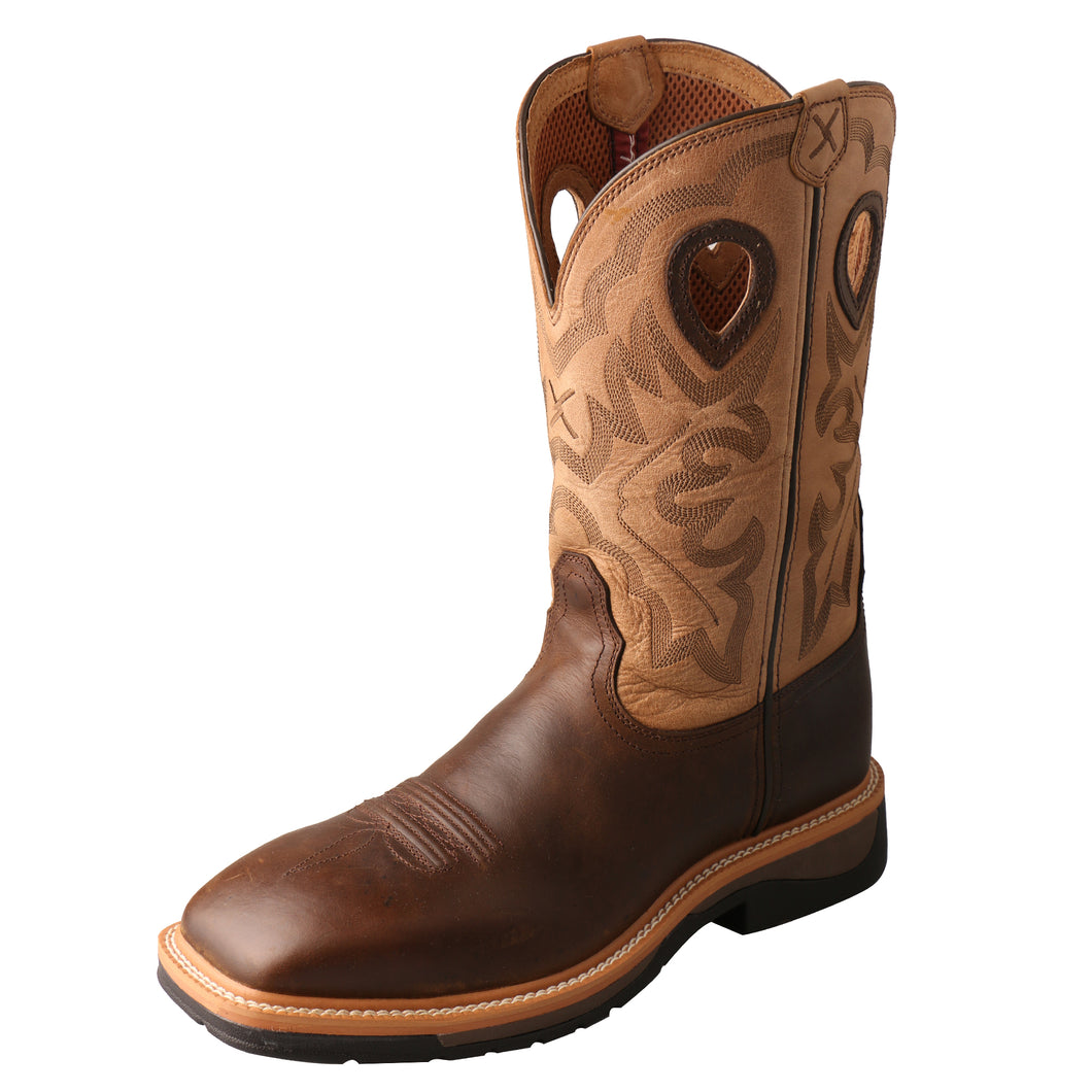 Picture of front outside of Men's Twisted X Steel Toe Lite Western Work Boot MLCS019