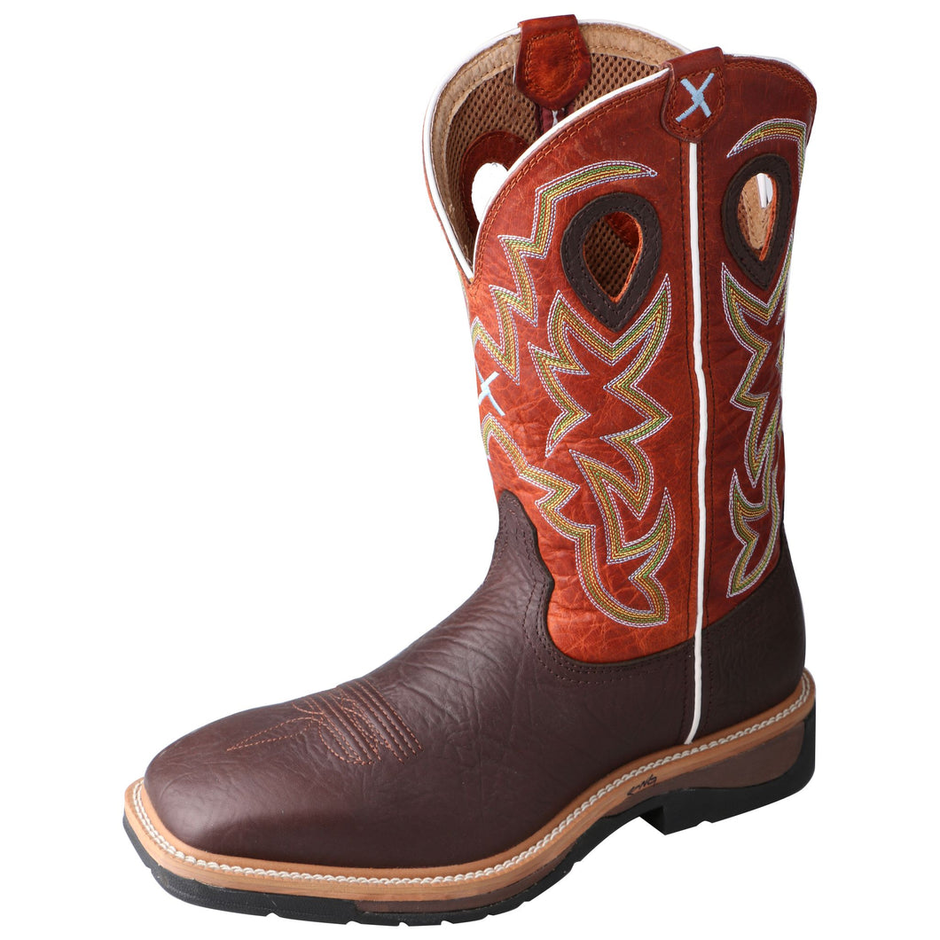 Picture of front outside of Men's Twisted X Lite Western Work Boot MLCW011