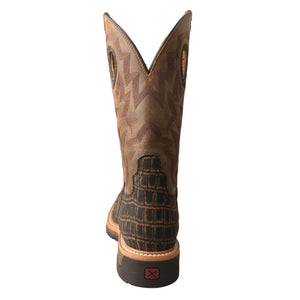 "Picture of inside of Men's Twisted X Pull On Soft Toe 12"" Western Work Boot MLCW023"
