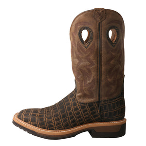 "Picture of front of Men's Twisted X Pull On Soft Toe 12"" Western Work Boot MLCW023"