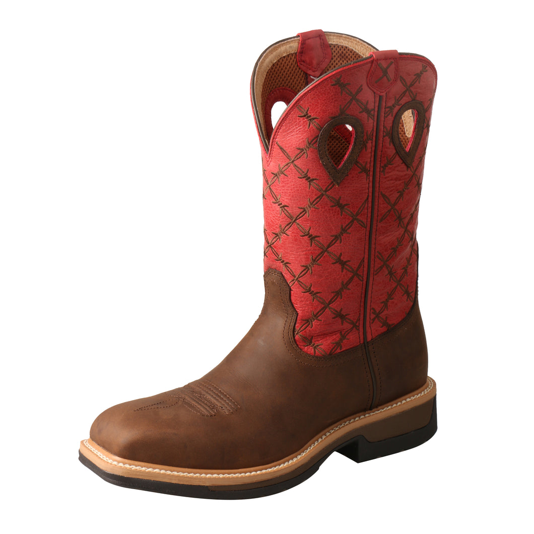 Picture of front outside of Men's Twisted X Lite Western Work Boot - WP MLCWW04