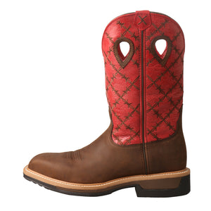 Picture of front of Men's Twisted X Lite Western Work Boot - WP MLCWW04