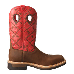 Picture of heel of Men's Twisted X Lite Western Work Boot - WP MLCWW04