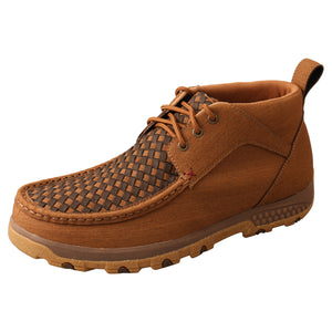Picture of front outside of Men's Twisted X CellStretch Chukka Driving Moc MXC0012