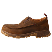 Load image into Gallery viewer, Picture of front of Men's Twisted X CellStretch Safety Toe Work Slip-On Driving Moc MXCC003