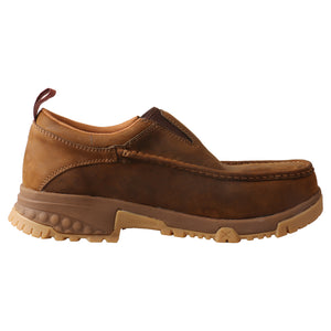 Picture of heel of Men's Twisted X CellStretch Safety Toe Work Slip-On Driving Moc MXCC003