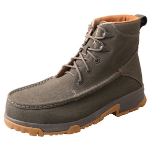 "Picture of front outside of Men's Twisted X CellStretch Lace Up Safety Toe 6"" Work Boot MXCC005"
