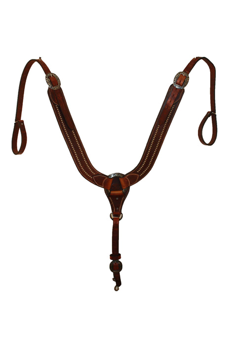 Picture of C&L Spotted Pulling Collar w/oval Jeremiah Watt Buckles PC000004