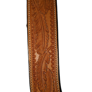 Picture of C&L Feather Tooled Pulling Collar w/oval Stainless Buckles PC000005