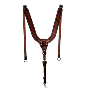 Picture of C&L Running W Tooled Pulling Collar with Stainless Buckles PC000007