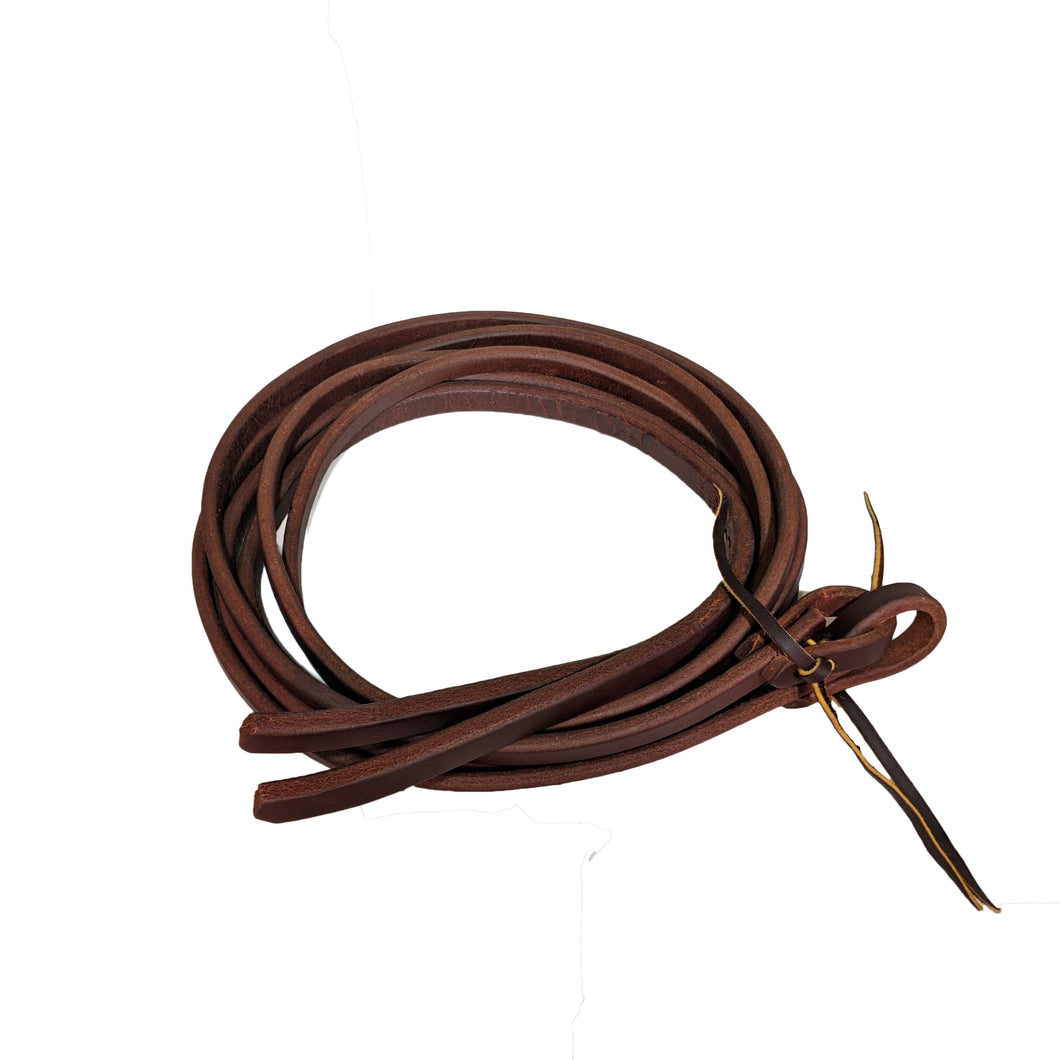 Picture of C&L Heavy Waxed Weighted Hand Oiled Split Reins RNS00001
