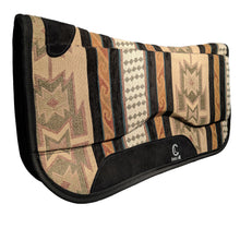 Load image into Gallery viewer, Picture of C&L Aztec Spinal Relief Saddle Pad SP000007