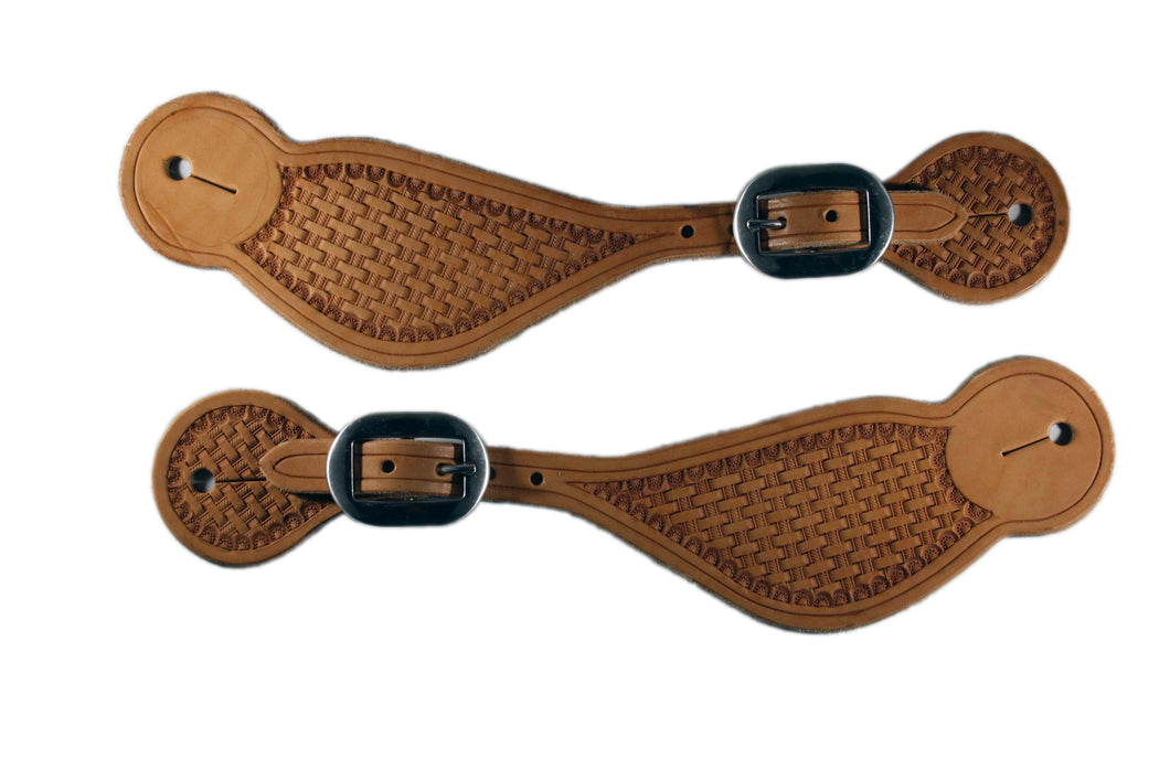 Picture of C&L Classic Tooled Spur Straps SS000005