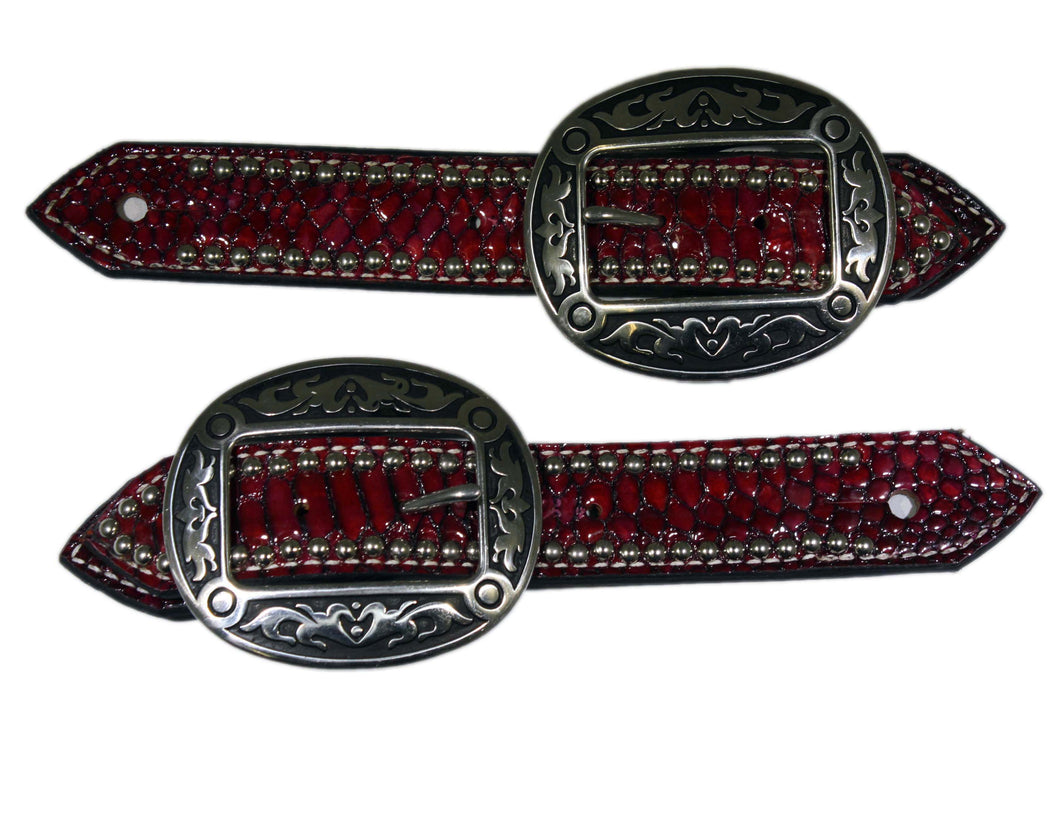 Picture of C&L Belt Style Hair On Zebra Spur Straps SS000008
