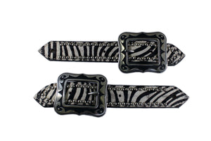 Picture of C&L Belt Style Hair On Zebra Spur Straps SS000010