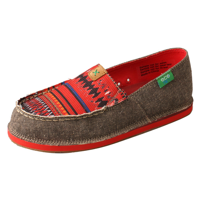 Picture of front outside of Women's Twisted X Slip-On Loafer WCL0011